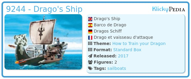 Playmobil 9244 - Drago's Ship
