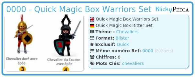 Playmobil 0000 - Quick Magic Box Warriors Set