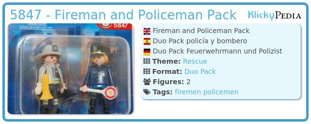 Playmobil 5847 - Fireman and Policeman Pack