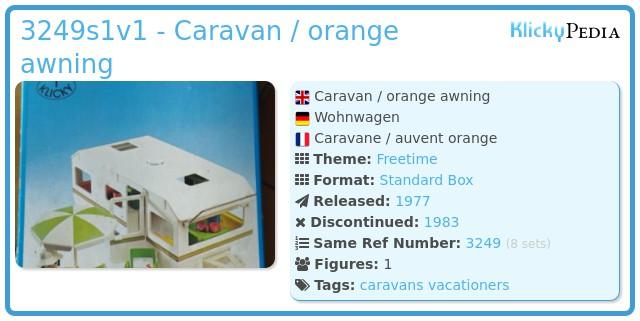 Playmobil 3249s1v1 - Caravan / orange awning