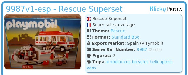Playmobil 9987v1-esp - Rescue Superset