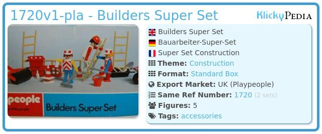 Playmobil 1720v1-pla - Builders Super Set