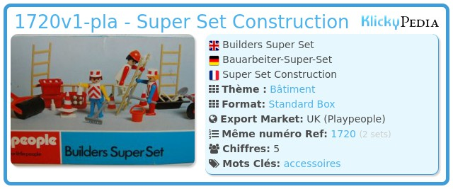 Playmobil 1720v1-pla - Super Set Construction