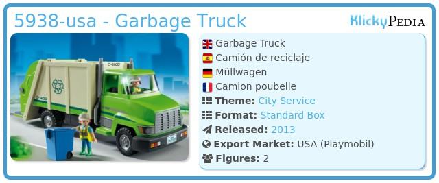 Playmobil 5938-usa - Garbage Truck