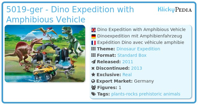 Playmobil 5019-ger - Dino Expedition with Amphibious Vehicle