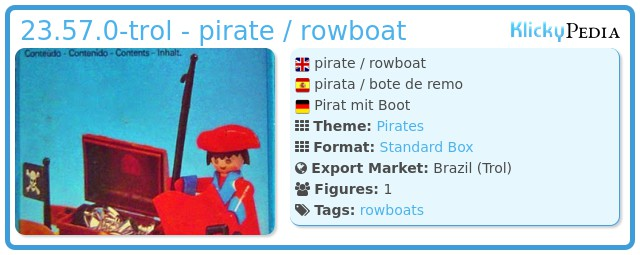 Playmobil 23.57.0-trol - pirate / rowboat