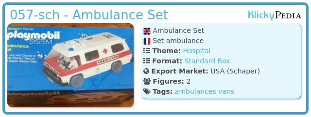 Playmobil 057-sch - Ambulance Set
