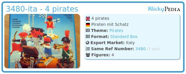 Playmobil 3480-ita - 4 pirates