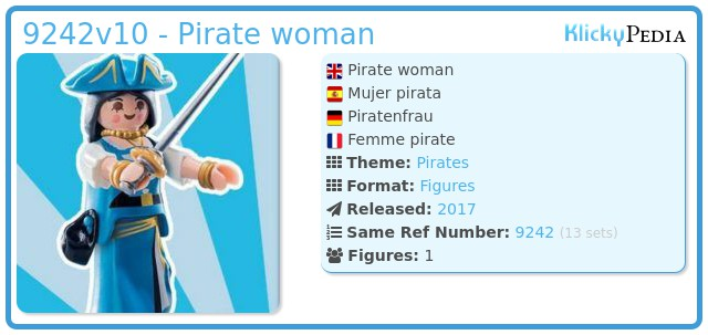 Playmobil 9242v10 - Pirate woman
