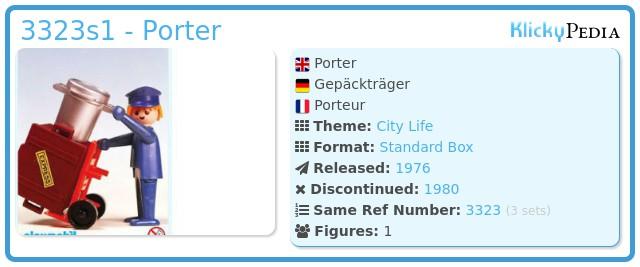 Playmobil 3323s1 - Porter