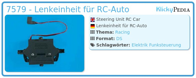 Playmobil 7579 - Steering Unit RC Car