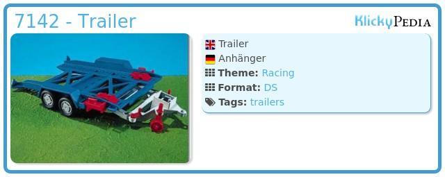 Playmobil 7142 - Trailer