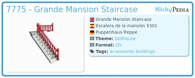 Playmobil 7775 - Grande Mansion Staircase