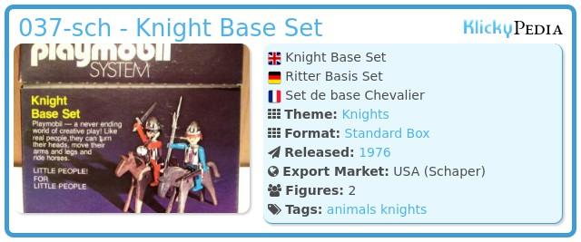 Playmobil 037-sch - Knight Base Set