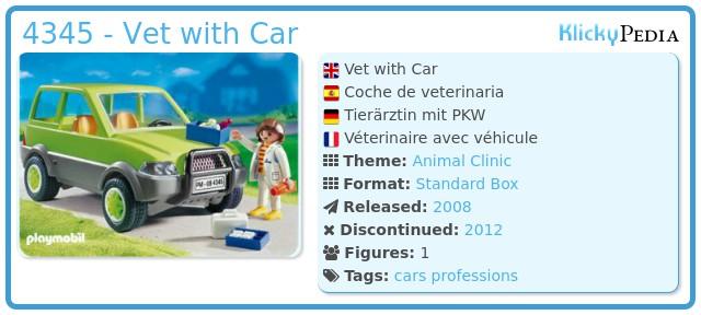 Playmobil 4345 - Vet with Car
