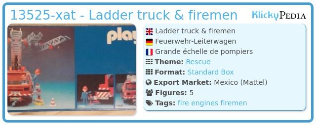 Playmobil 13525-xat - Ladder truck & firemen