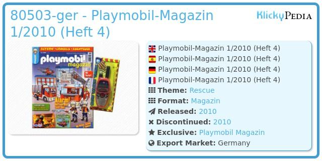 Playmobil 00000-ger - Playmobil Magazin 1/2010 (Heft 4)