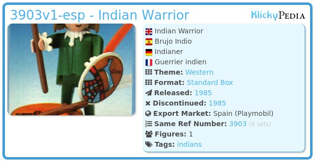Playmobil 3903v1-esp - Indian Warrior