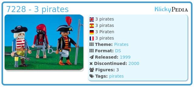 Playmobil 7228 - 3 pirates