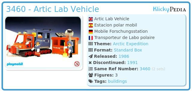 Playmobil 3460 - Artic Lab Vehicle