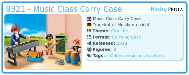 Playmobil 9321 - Music Class Carry Case