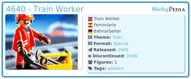 Playmobil 4640 - Train Worker