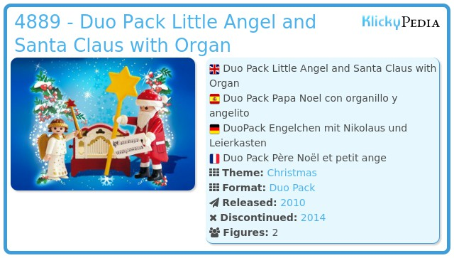 Playmobil 4889 - Little Angel and Santa Claus with Organ