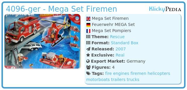 Playmobil 4096-ger - Mega Set Firemen