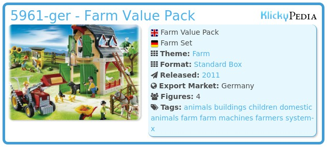 Playmobil 5961-ger - Farm Value Pack