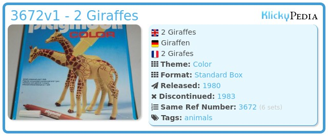 Playmobil 3672v1 - 2 Giraffes