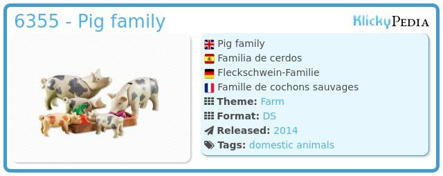 Playmobil 6355 - Pig family
