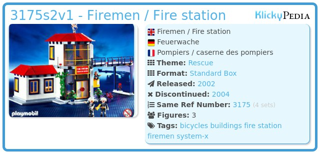 Playmobil 3175s2v1 - Firemen / Fire station