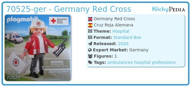 Playmobil 70525-ger - Germany Red Cross