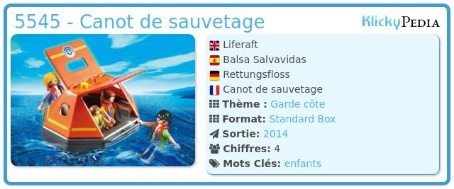 Playmobil 5545 - Liferaft