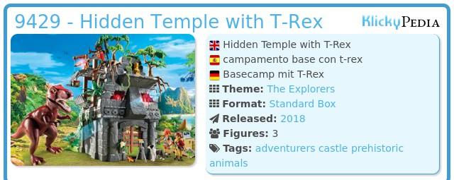 Playmobil 9429 - Hidden Temple with T-Rex