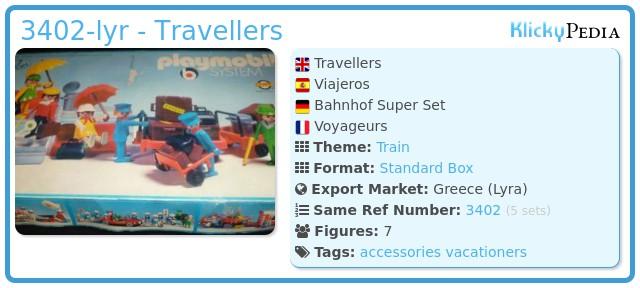 Playmobil 3402-lyr - Travellers