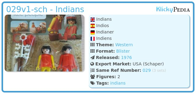 Playmobil 029v1-sch - Indians