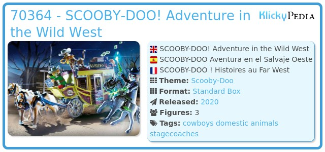 Playmobil 70364 - SCOOBY-DOO! Adventure in the Wild West