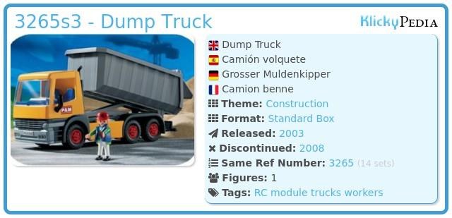 Playmobil 3265s3 - Dump Truck