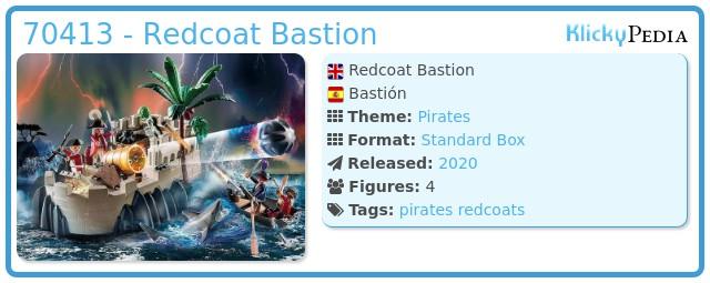 Playmobil 70413 - Redcoat Bastion