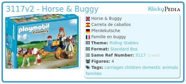 Playmobil 3117v2 - Horse & Buggy
