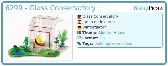 Playmobil set 6299 glass conservatory klickypedia for Jugendzimmer 6457