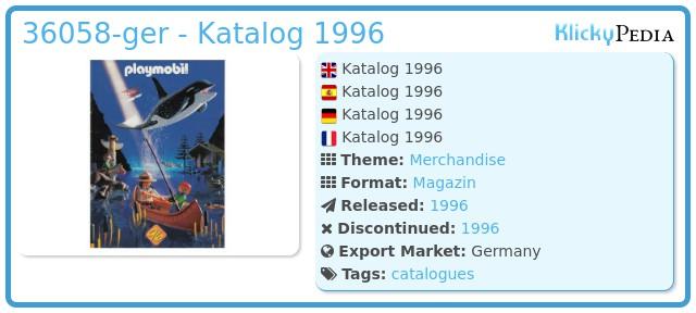 Playmobil 36058-ger - Katalog 1996