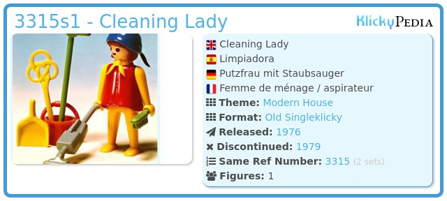 Playmobil 3315s1 - Cleaning Lady