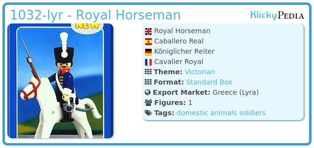 Playmobil 1032-lyr - Royal Horseman