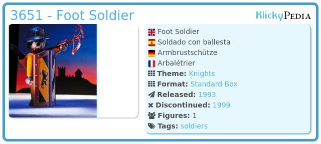 Playmobil 3651 - Foot Soldier