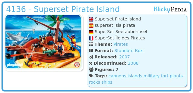 Playmobil 4136 - Superset Pirate Island