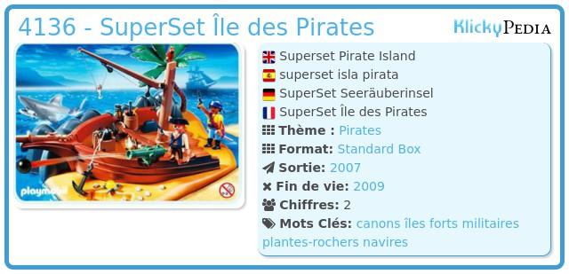 Playmobil 4136 - SuperSet Île des Pirates