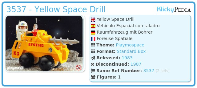 Playmobil 3537 - Yellow Space Drill
