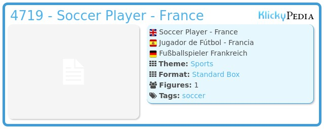 Playmobil 4719 - Soccer Player - France